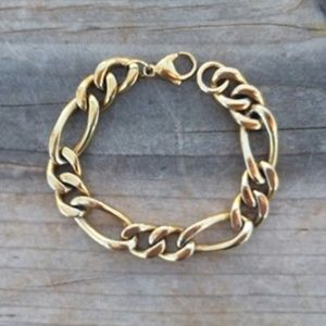Jewelry - Style Bracelet Link Brass Or Goldplated